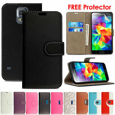 Magnetic Leather Wallet Flip Case Cover For Samsung Galaxy S3 S4 S5 Neo Mini