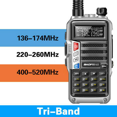 BaoFeng UV-S9 Tri-Band 8W 2x Antenna Long Range Walkie Talkie Two Way Radio New