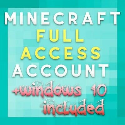 Minecraft Java Edition WITH WINDOWS 10  | FULL ACCESS Premium Account Unmigrated