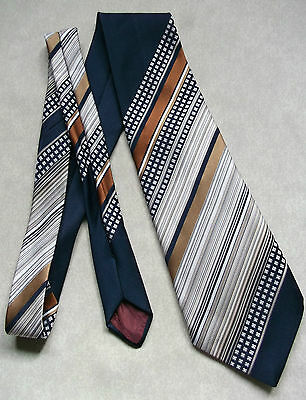 Vintage Tie Mens Wide Necktie Retro Fashion 1970s HEPWORTHS HARDY AMIES