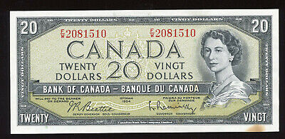 1954 $20 Bank of Canada Banknote - Cat#41b - S/N: F/W2081510