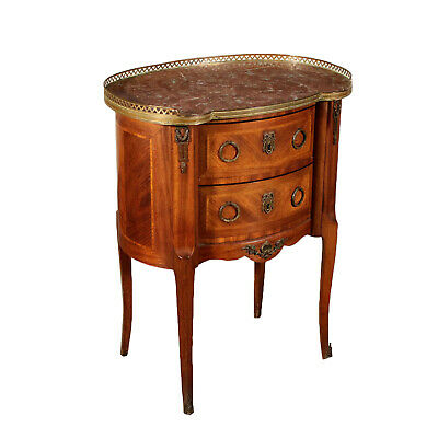 Coffee Table Brass Top Rosewood Reserves Italy 20th Century
