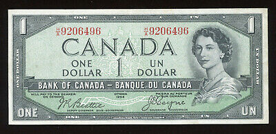 1954 Devil's Face $1 Bank of Canada Banknote - Cat#29b - S/N: H/A9206496