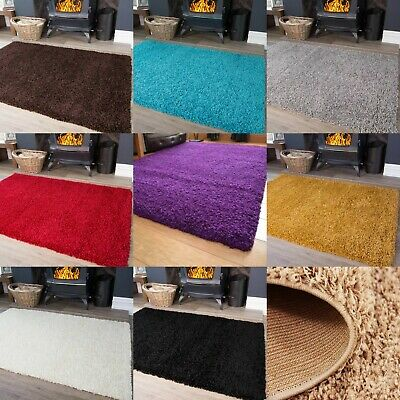 Soft Shaggy Rug Contemporary Fluffy Long Pile Thick Carpet Mat Salvador Shades