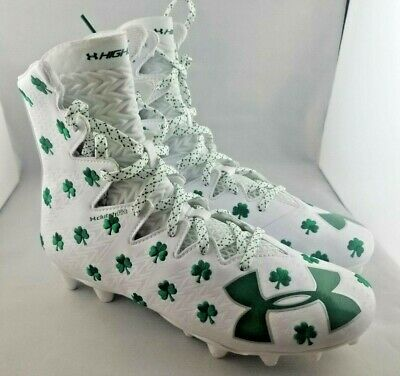 dbe9cc5883af Under Armour UA Limited Edition Shamrock Highlight Lacrosse Cleats Size 12