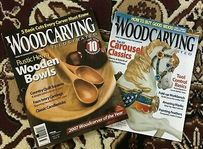 Wood Carving Illustrated Magazine Lot~Summer & Fall 2007