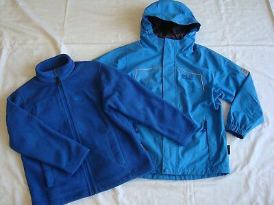first rate 1b424 84b20 JACK WOLFSKIN JUNGEN 3in1-Jacke Kids Greenland Jacket + Doppeljacke + Gr.128