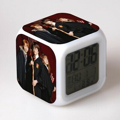 Harry Potter Alarm Clock 7-Color Changing Student Nightlight Clock in Box Gift