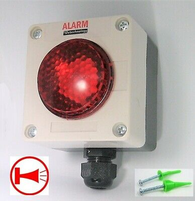 Waterproof Ultra Loud 125 DB Siren Pulsating Alarm Sealed NEMA Box 12V Marine