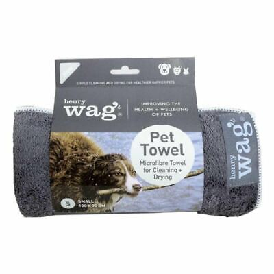 Henry Wag Pet Towel Drying Coats Super Absorbent Quick Drying Microfibre