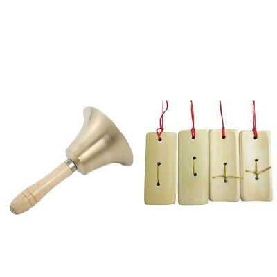 Hand Bell Loud Call Bell Handbell Desk Ringbell Finger Clappers Castanets