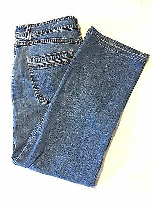 French Dressing Women's Dusty Flare Stretch High Waist Blue Jeans Size  32x26