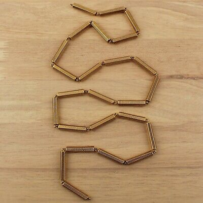 """Chunky Statement Hexagon Bar Link Chain in Gold Tone Plated Brass - 39 3/8"""""""