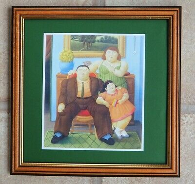 Fernando Botero  Beautiful  Framed Card Print Entitled  The Family  From 1982