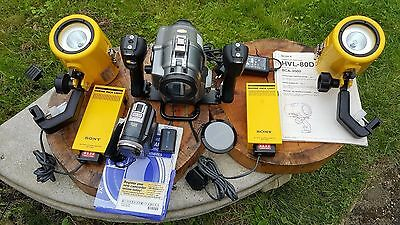 Sea & See Professional Underwater Filming Housing Set Sony DCR-PC330 Sony Lights