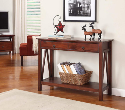 Table Entryway Sofa Foyer Accent Console Hall Entry Wood Antique Style Drawers