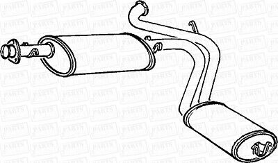 Peugeot 406 2.0 1 16V Man Ew10j4 Est W//Obd 00-01 Rear Exhaust Silencer Back Box