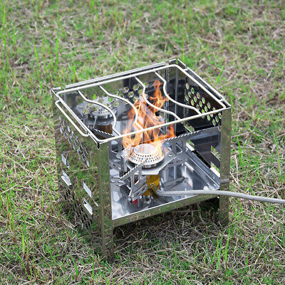 Honey Lixada Outdoor Wood Stove Camping Stoves Compact Folding Tableware For Outdoor Camping Cooking Picnic Hiking Bbq Titanium Steel Outdoor Stoves