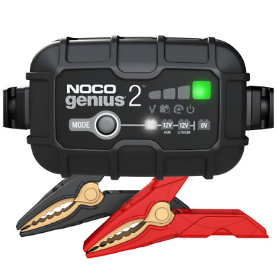 Noco G1100 lithium specs battery charger for motorbikes + 12V charge indicator