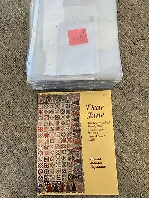 DEAR JANE 225 Patterns from 1863 Stickle Quilt 1996 PB Brenda Papadakis Book
