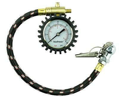 Motorcycle Tyre Pressure Gauge Rocky Creek Dial Type With Two Chucks