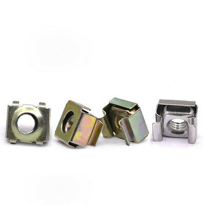 Color Zinc Steel - Cage Nuts Snap-In Nuts - M5 (5mm) M6 (6mm)