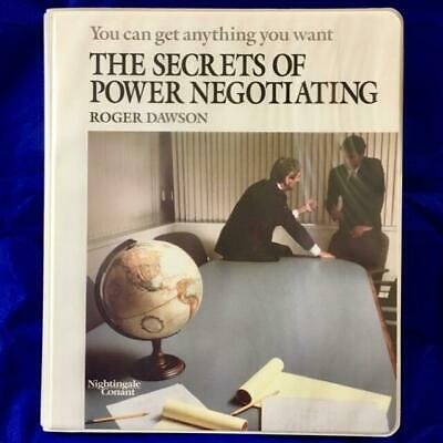 The Secrets of Power Negotiating: by Roger Dawson (12 Sessions on 6 Cassettes)