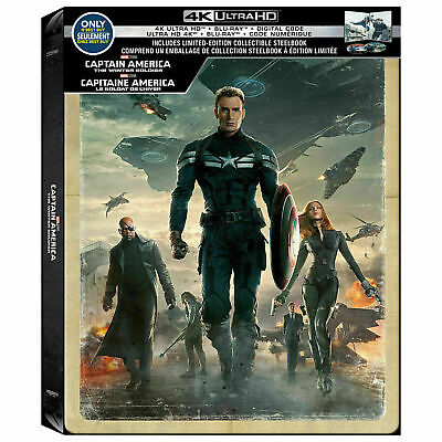 Captain America:The winter soldier - SteelBook (4K Ultra HD + Blu-ray)