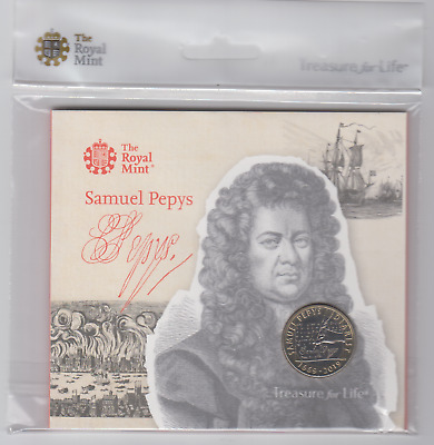 GB £2 Samuel Pepys Royal Mint Presentation Pack BUNC condition