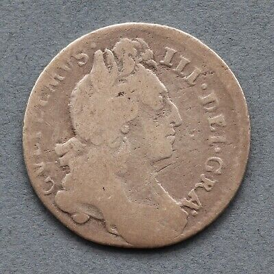 William III. Sixpence 6d, 1696. Struck Off Centre.