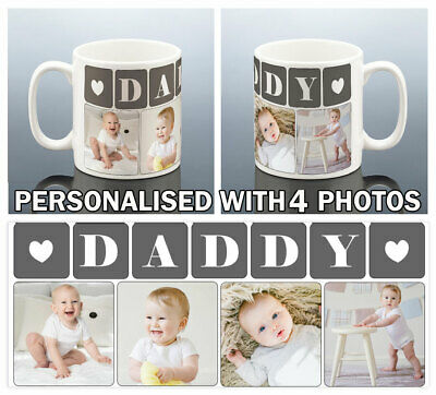 DADDY PHOTO MUG Personalised Birthday Gift Best Dad Cup New Dad Birthday Present