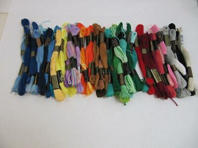 75+ skeins of DMC & JP Coats Embroidery Cotton floss w tags variety of  Colors