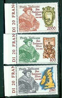 1985 Vatican City Sc# 755-7: St. Thomas More MNH