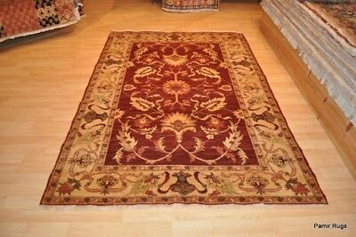5x7 ft. TOP QUALITY Persian design vegetable dye RUG natural RED, GOLD, BEIGE