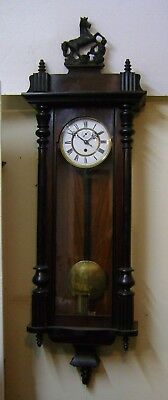 Antique Single Weighter Wall Clock.