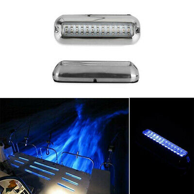 2x 12v 21led Marine Yacht Boat Led Underwater Light Fishing Boat Marine Kit Trim Tab Light Kit Transom Stern Bar Blue Waterproof High Safety Atv,rv,boat & Other Vehicle