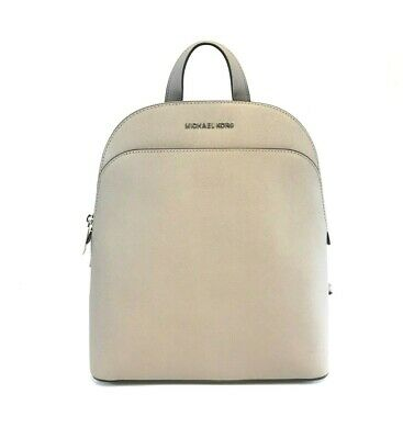7f267d267 Brand New Women's Michael Kors Emmy Large Dome Pearl Grey Leather Backpack  Bag