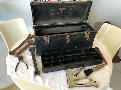 BELL SYSTEM Vintage TELEPHONE LINEMAN - Toolbox/Tools - Hammer Wrenches Pliers