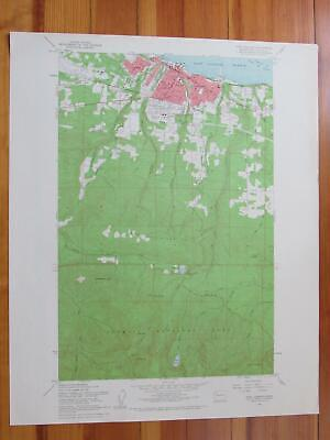 Port Angeles Washington 1961 Original Vintage USGS Topo Map