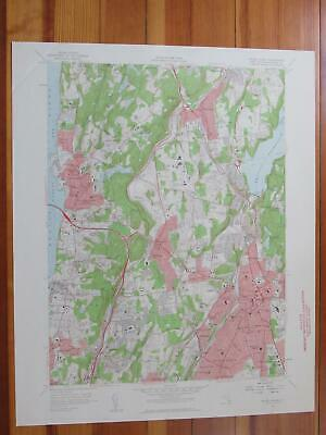 White Plains New York 1959 Original Vintage USGS Topo Map