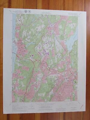 White Plains New York 1979 Original Vintage USGS Topo Map