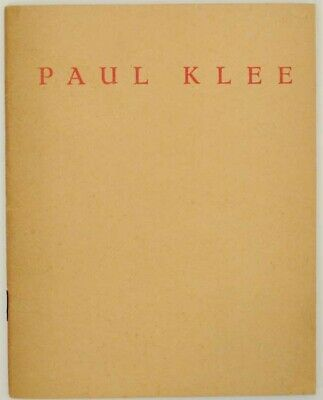 Georeges Limbour / PAUL KLEE 1879-1940 First Edition 1948 #153965