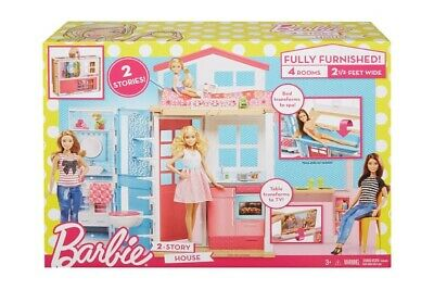 Barbie Doll House Play Set Girls Toy New