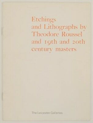 Etchings And Lithographs By Theodore Roussel And 19Th And 20Th Century #158086