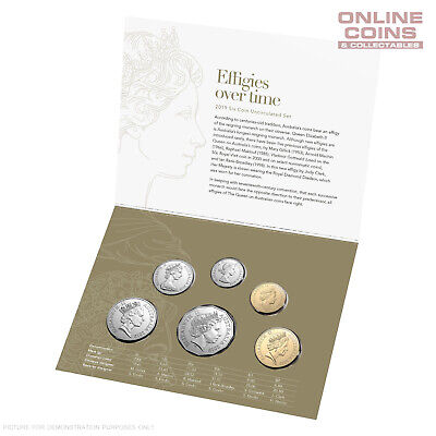 2019 Royal Australian Mint Six Coin Uncirculated Year Set - Effigies Over Time