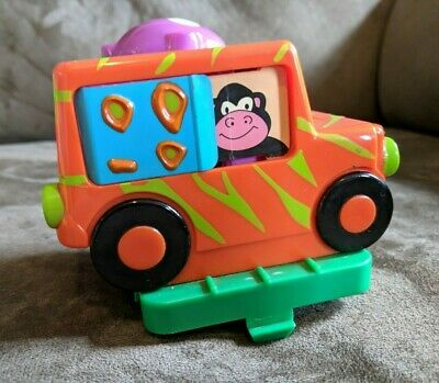 Evenflo Exersaucer Safari GORILLA CAR Jeep Monkey Banana Spring Button Toy Part