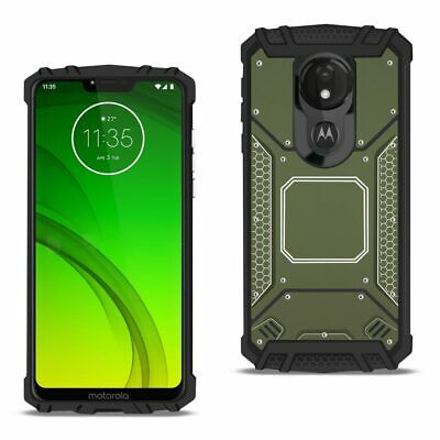 MOTOROLA MOTO G7 Power Metallic Front Cover Case In Gray
