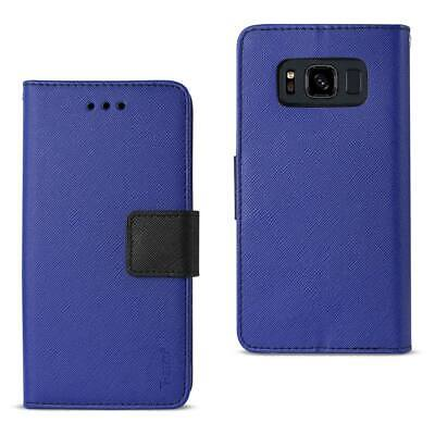 Reiko Samsung Galaxy S8 Active 3-In-1 Wallet Case In Navy