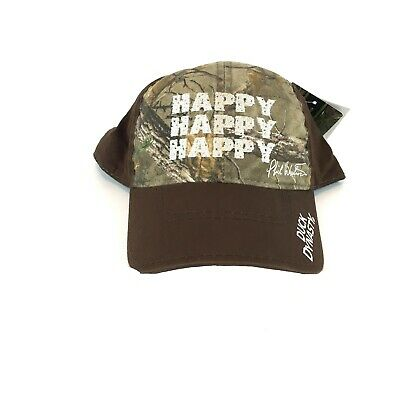 4a1c75a15bdb7 NEW Duck Dynasty Buck Commander A E Realtree Happy Hunting Outdoor Cap Camo  NWT