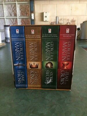 A Game Of Thrones Box Set by George R R Martin: 4 books